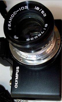 Адаптер для объектива Гелиос-103 на фотоаппарат Olympus E-PL3