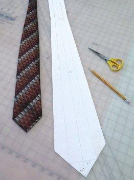 Кожаный галстук своими руками