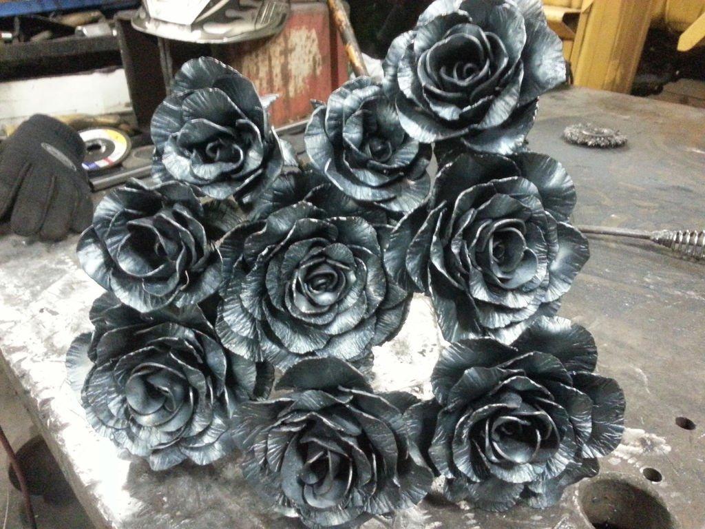 Цветы из металла своими руками фото фото 918