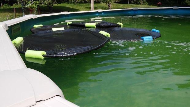 Простая грелка для бассейна своими руками