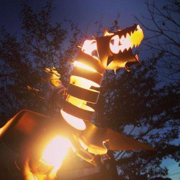 Игрушечный дракон из труб ПВХ своими руками