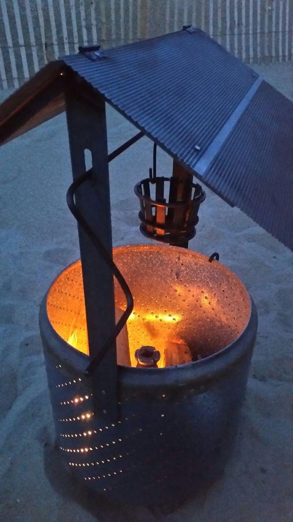 Очаг из барабана стиральной машины