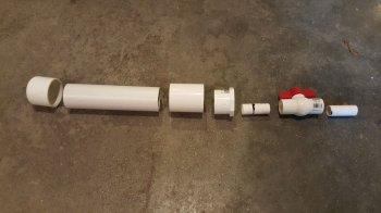Воздушный пистолет из ПВХ-труб своими руками