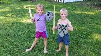Детский деревянный щит своими руками