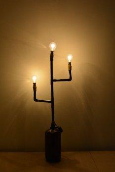 Лампа из ПВХ-труб своими руками