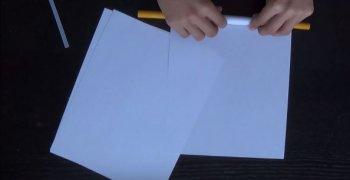 Катапульта из бумаги своими руками