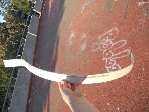 Велосипедное крыло из шпона своими руками