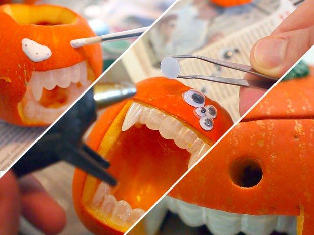 Тыква-монстр для Хэллоуина своими руками