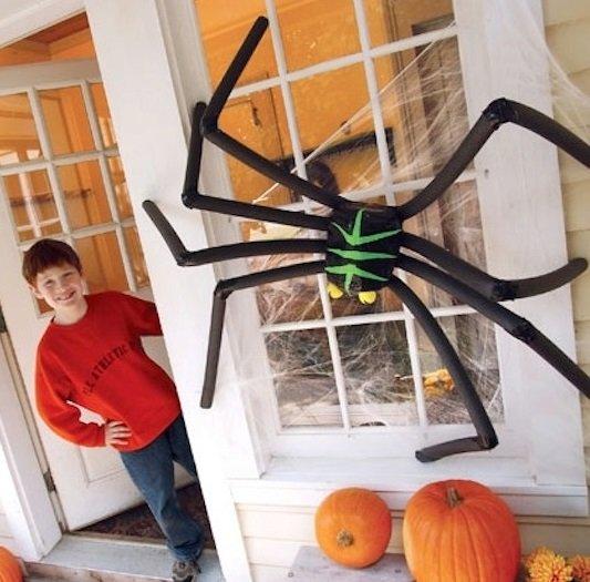 Большой паук для Хэллоуина своими руками