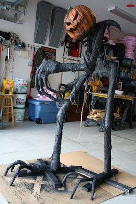 Статуя Грима на Хэллоуин своими руками