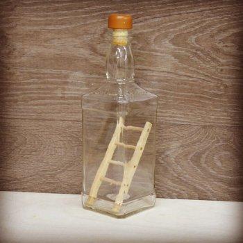 Деревянная лестница в бутылке своими руками
