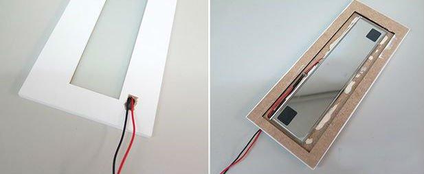 Объемное панно со светодиодной подсветкой