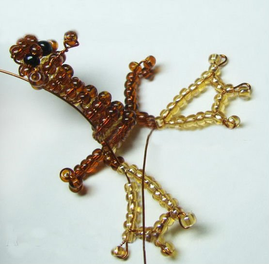 3D Дракон из бисера своими руками