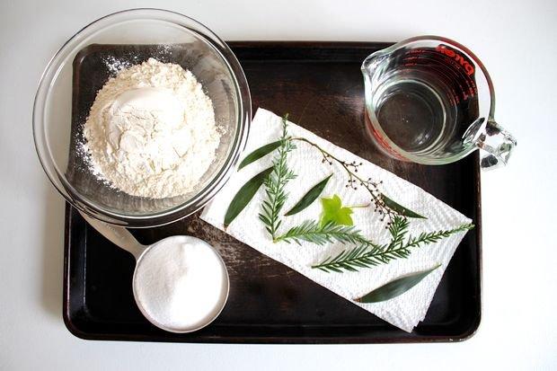 Елочные украшения из соленого теста