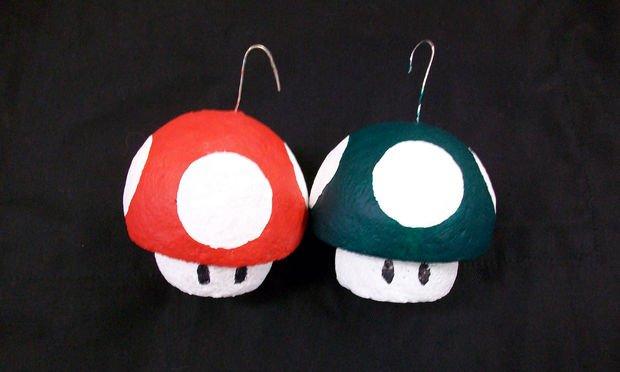 Елочная игрушка гриб из пенопласта своими руками