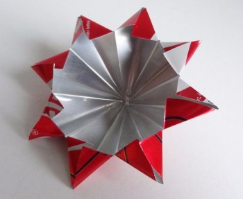 Звезда на елку из алюминиевой банки