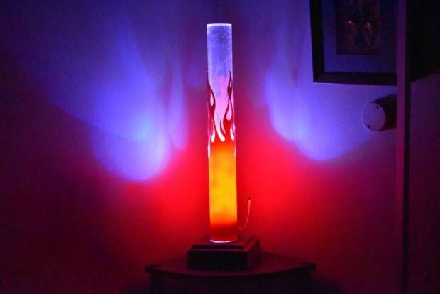 Лампа с эффектом пламени своими руками