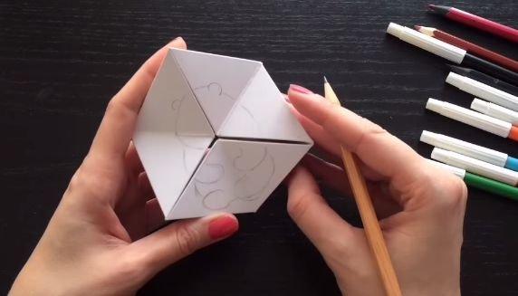 Бумажная головоломка в виде калейдоскопа