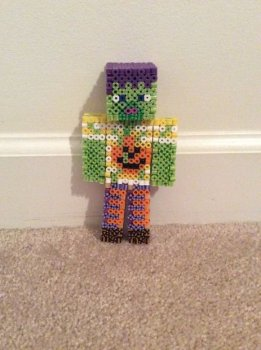 Зомби Minecraft из бисера своими руками
