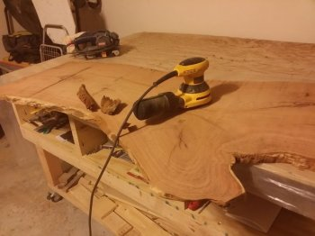 Стол из спила дерева своими руками