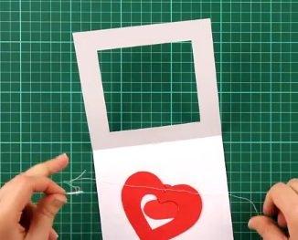 Открытка на День Святого Валентина своими руками