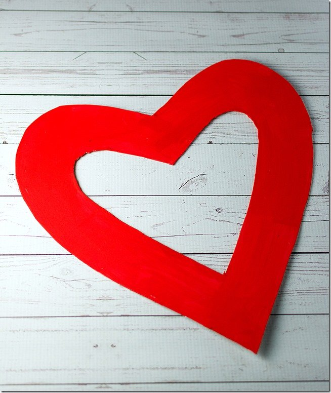 Венок в виде сердца своими руками