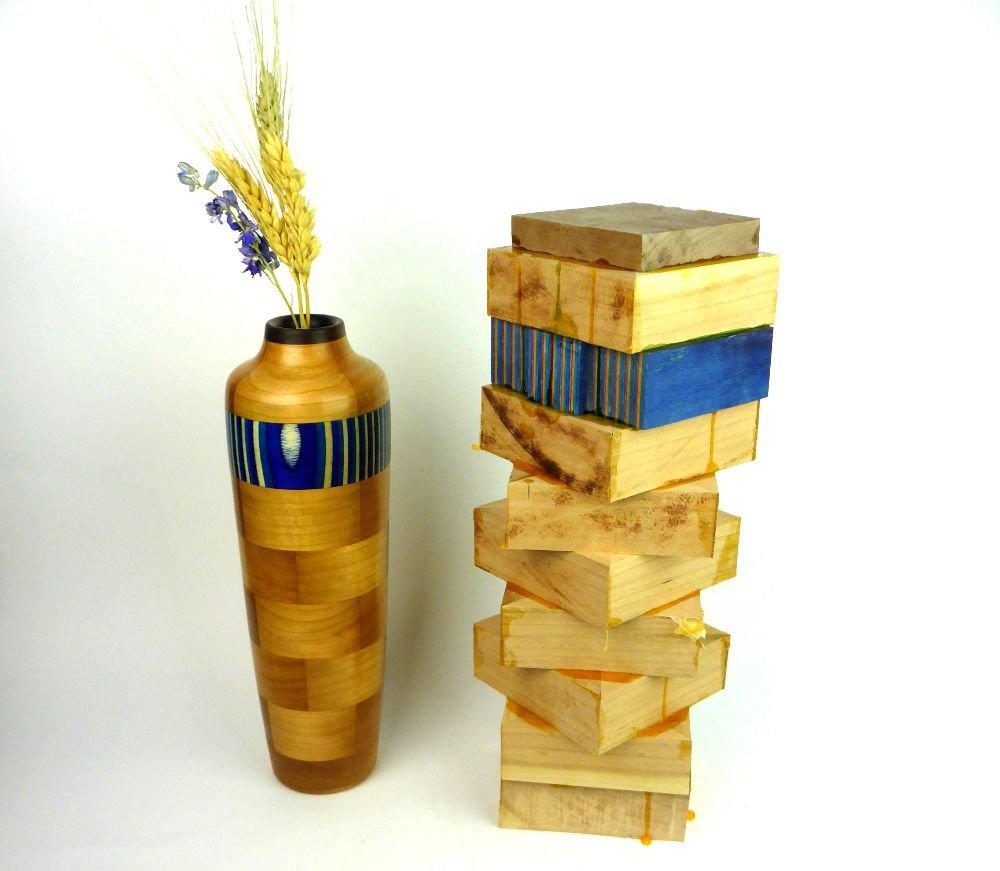 Ваза из деревянных брусков своими руками