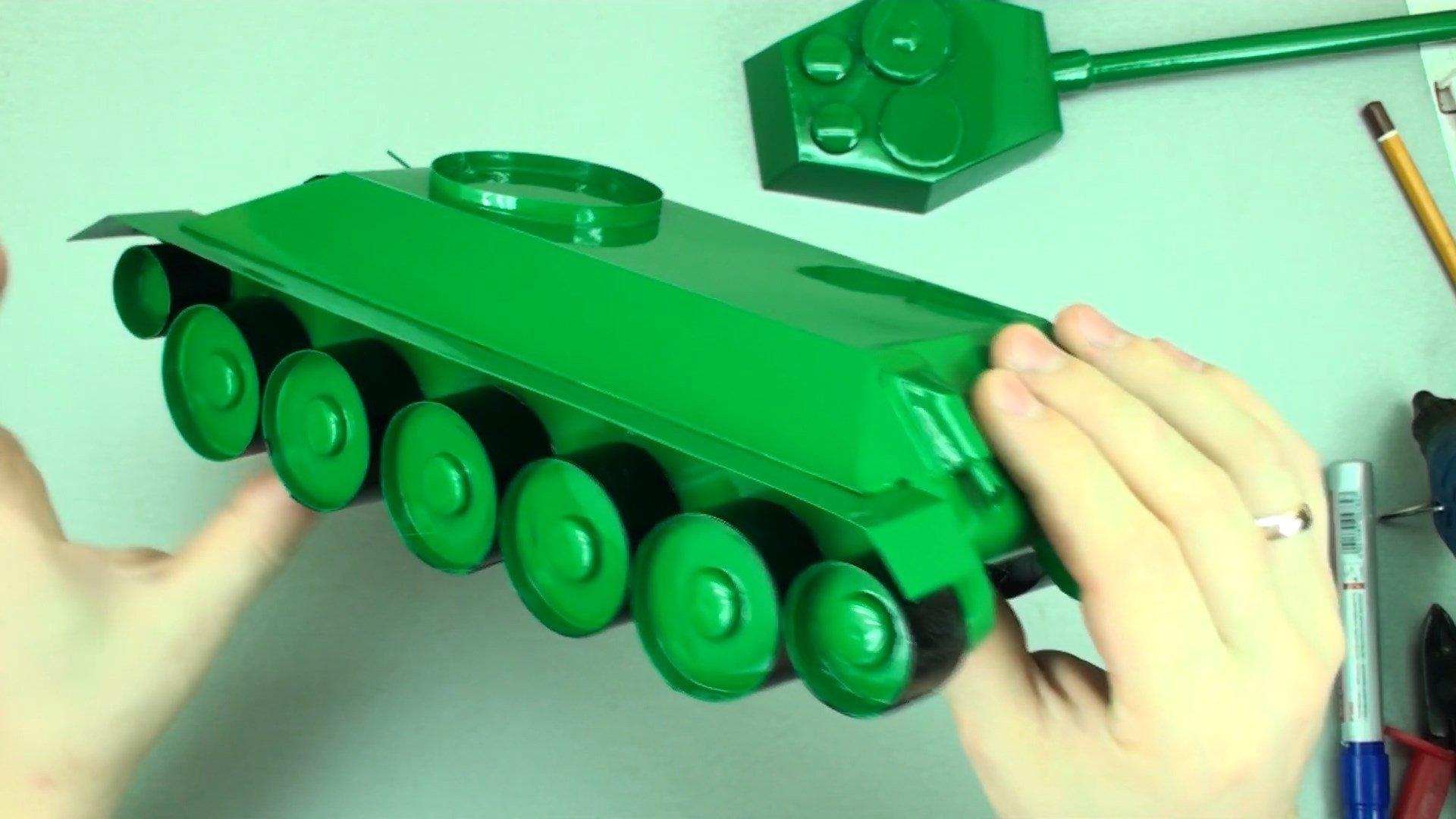 Делаем модель танка Т-34-85 своими руками
