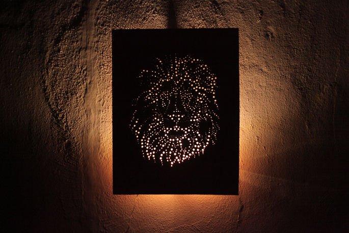 Панно-светильник из фанеры своими руками