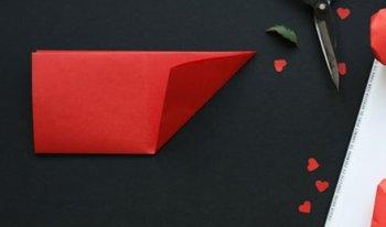 Объемное сердце оригами