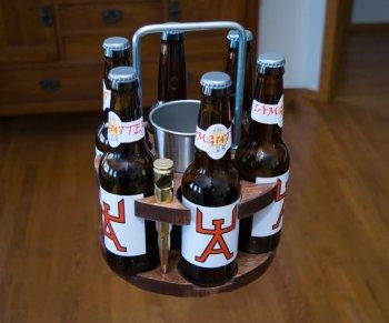 Переноска для бутылок на 6 мест своими руками