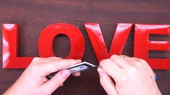 3D слово LOVE своими руками