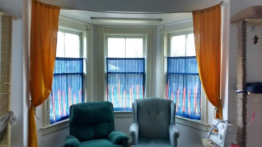 Шторы и карниз для окна своими руками