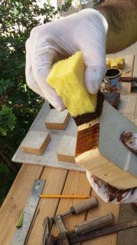 Часы из деревянных блоков своими руками