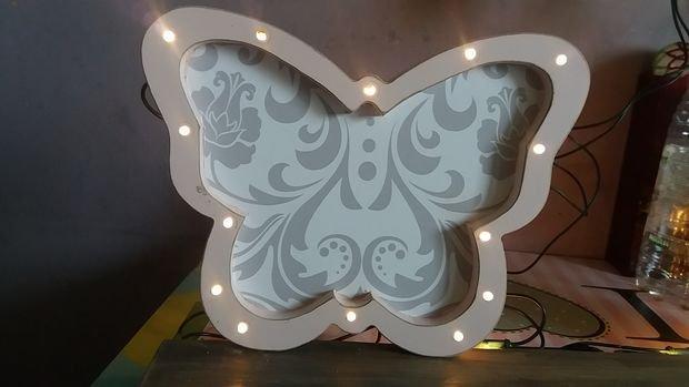 Светящиеся бабочки своими руками
