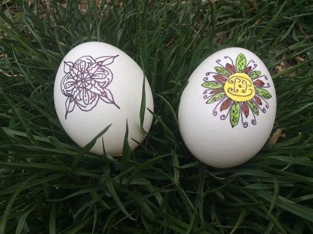 Как быстро раскрасить пасхальные яйца