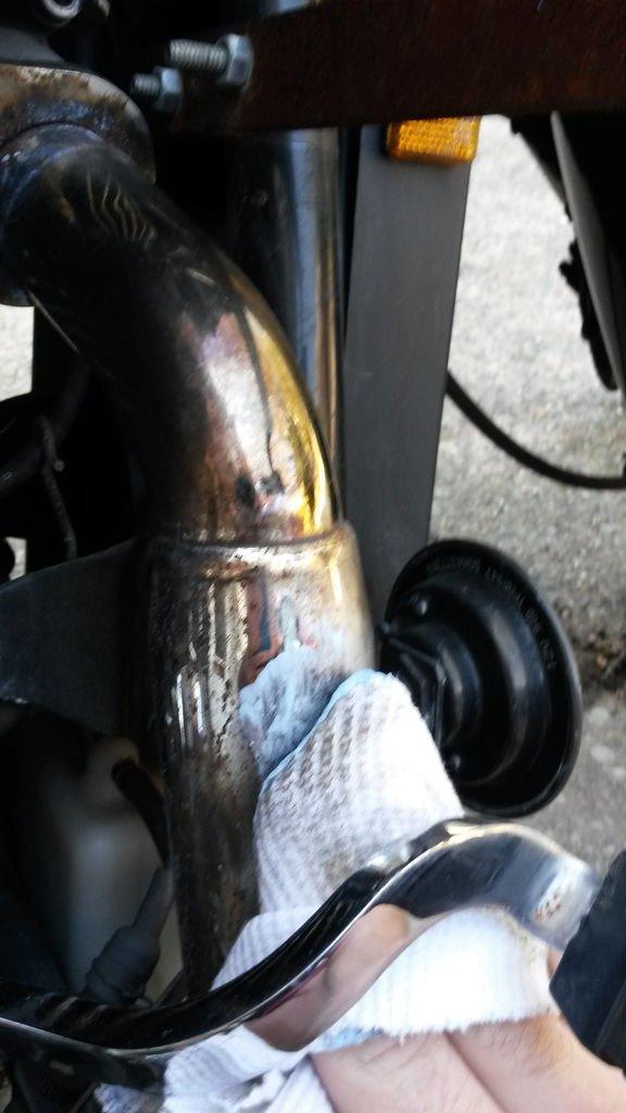 Как самостоятельно отполировать мотоцикл