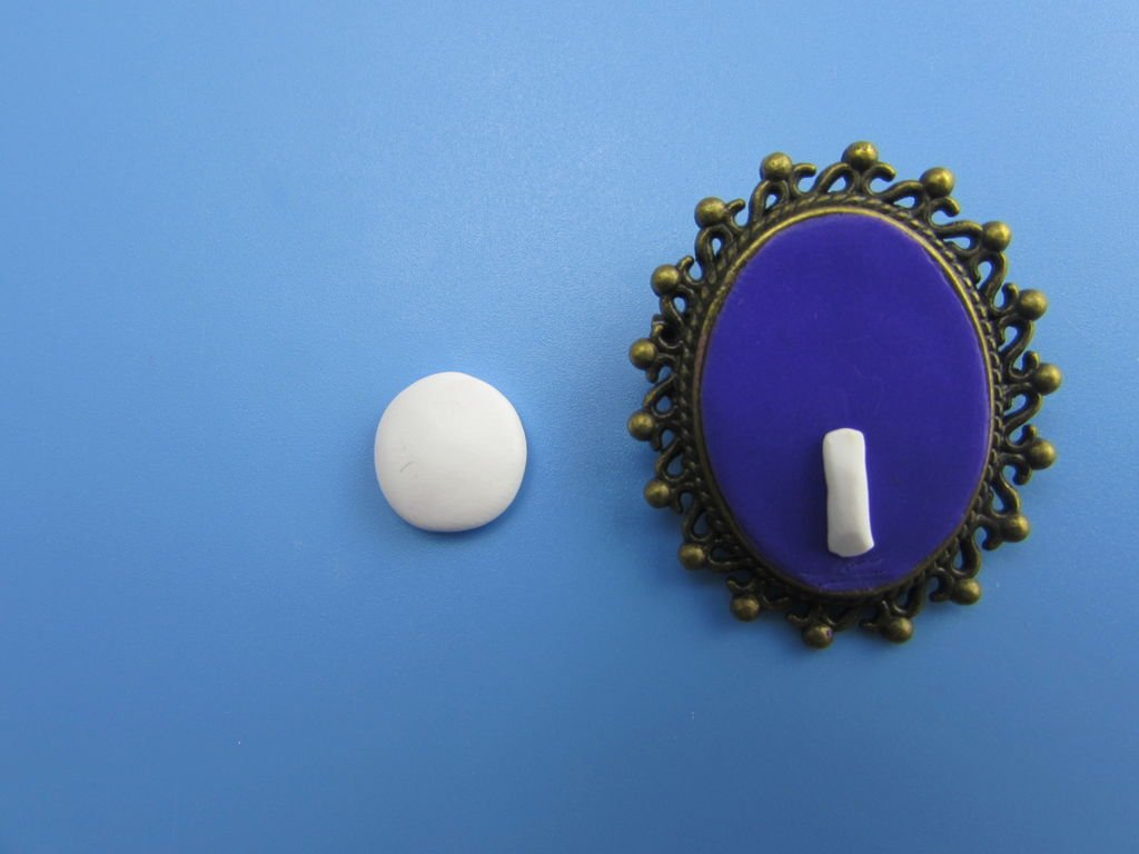 Кулон из полимерной глины с Джеком Скеллингтоном