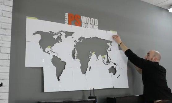 Карта мира на стену своими руками