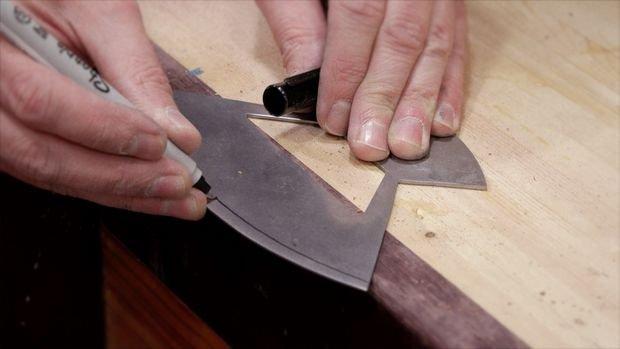 Нож улу и доска к нему своими руками