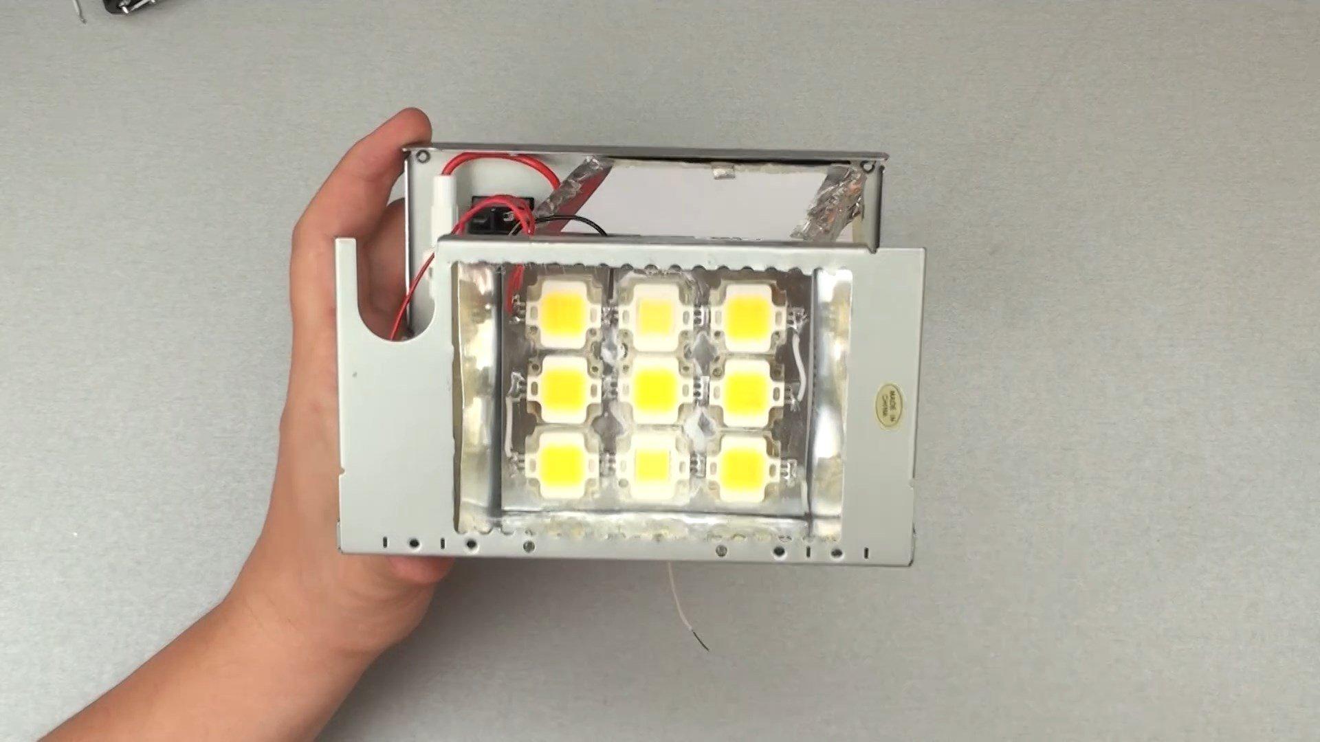 Делаем LED прожектор 50W из хлама