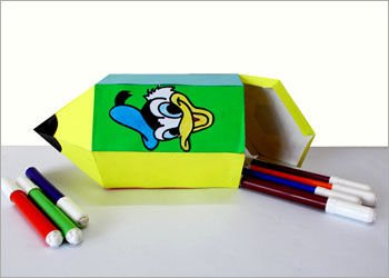 Пенал в форме карандаша своими руками