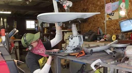 Кресло и стул из спутниковой антенны своими руками
