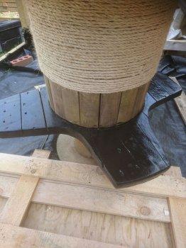 Стол из кабельной катушки своими руками