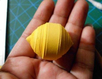 Объемный лимон в технике квиллинг