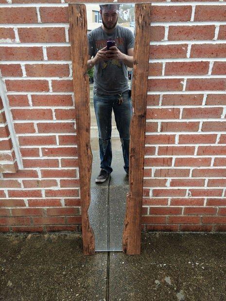 Зеркало в раме из натурального дерева своими руками