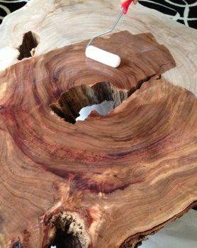Журнальный столик из спила дерева своими руками