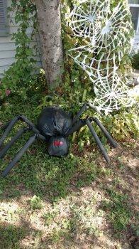 Огромный паук для Хэллоуина своими руками