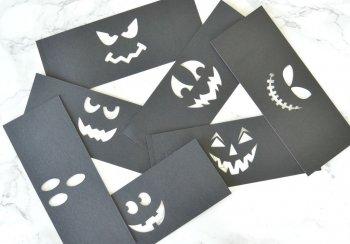 Фонарики из картона для Хэллоуина своими руками