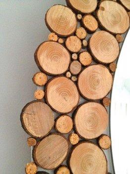Обрамление для зеркала из спилов дерева своими руками